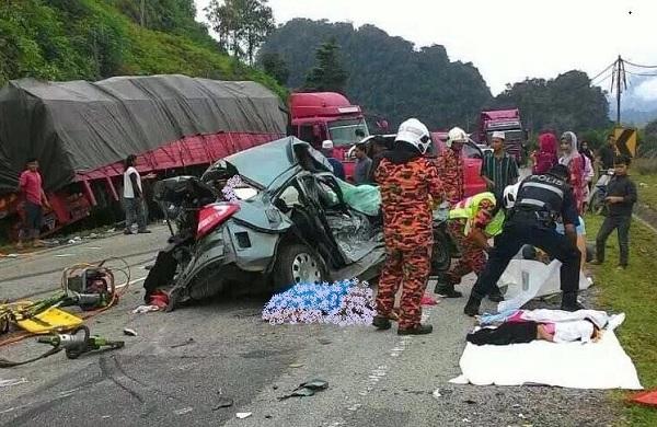 Enam Sekeluarga Maut Dalam Kemalangan Ngeri Di Gua Musang