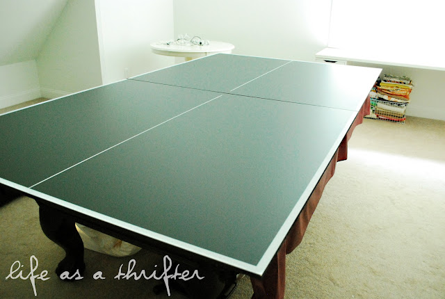 Life as a thrifter blogging without borders step 2 - How much space for a ping pong table ...