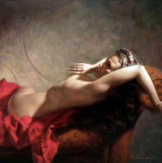 Pintura Desnudo Espalda Mujer