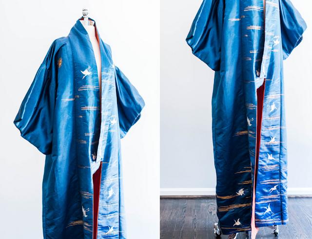 Vintage Silk Kimono #vintage #1920s #fashion #kimono #sapphire