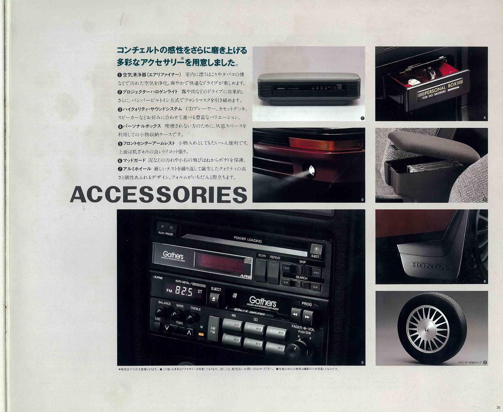 Honda Concerto, akcesoria, kupno, japońskie samochody z lat 90