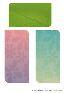 tarjetas florales para imprimir