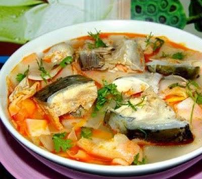 Hướng dẫn cách nấu canh chua cá với măng