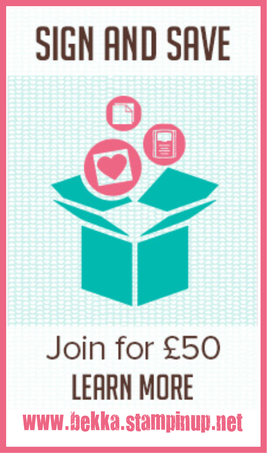 Join Stampin' Up! UK for just £50 between now and the end of June 2014