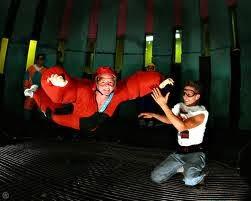 Flight coach, helmet and gear to go indoor skydiving