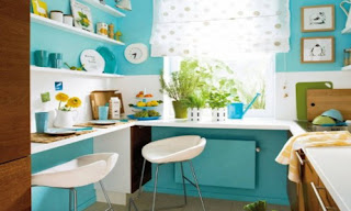 colorful kitchen at the Kensington place Toronto Retirement Homes