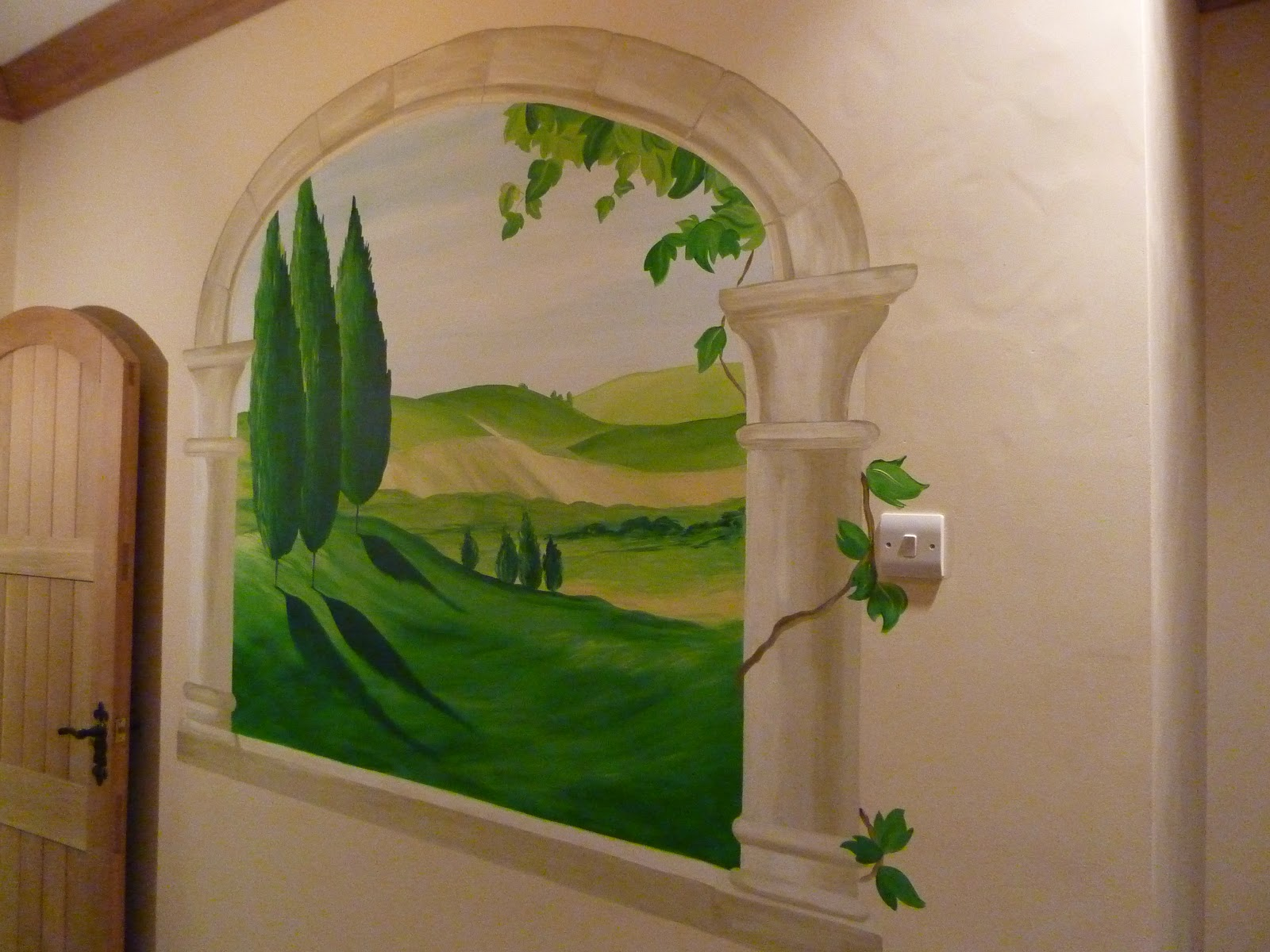 joanna perry top mural artist hand painting murals across the hand painted tuscany vista feature wall mural south wales