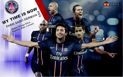 Paris Saint-Germain 2012-2013 Squad Wallpaper - zlatan ibrahimovic - Thiago Silve - Pastore - Alex - Lavezzi