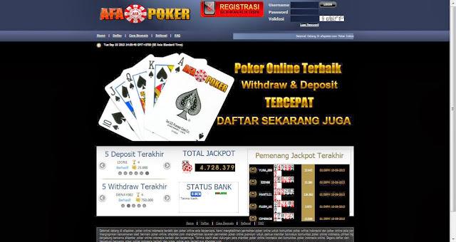 Daftar poker Online Uang Asli AFApoker.com
