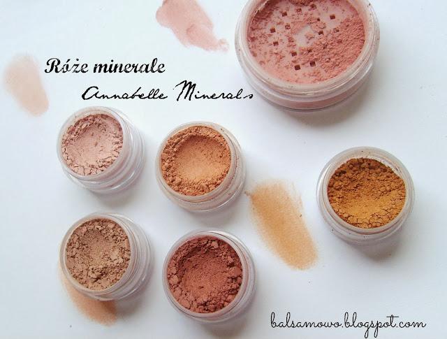 Róże mineralne Annabelle Minerals odcienie