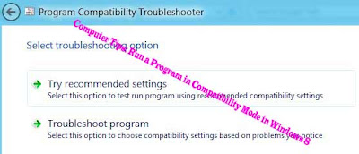 Computer Tips: Run a Program in Compatibility Mode in Windows 8
