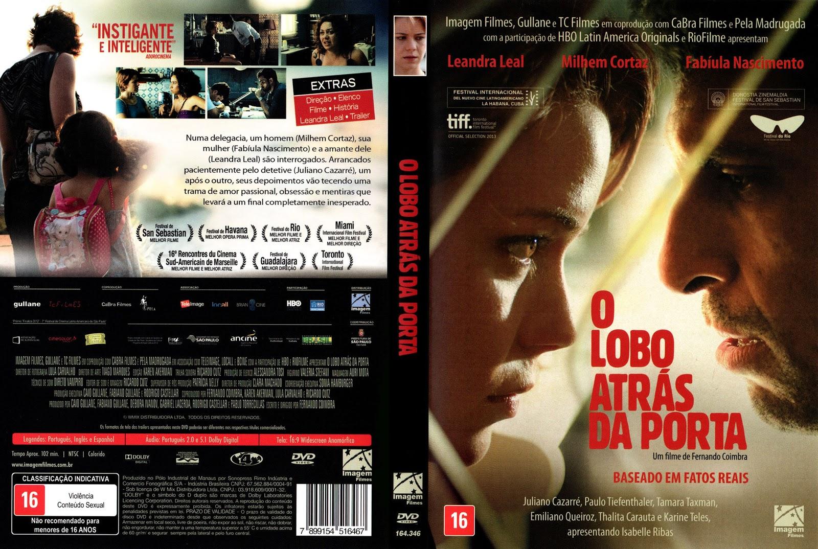 Capa DVD O Lobo Atrás Da Porta