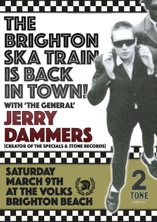 SATURDAY 9 MARCH<br>The Brighton Ska Train with Jerry Dammers<br>The Volks Club, Brighton