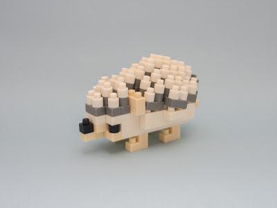 ナノブロックで作ったハリネズミ