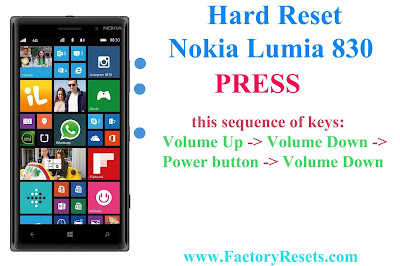 Hard Reset Nokia Lumia 830 (RM-984)