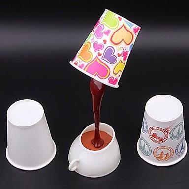 Lámpara LED de Diseño Café y Vasos