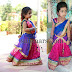 Cute Girl in Jute Net Half Sari