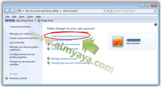 Gambar: Membuat password baru untuk akun