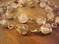 Antique Wired Quartz Necklace by hotGlued