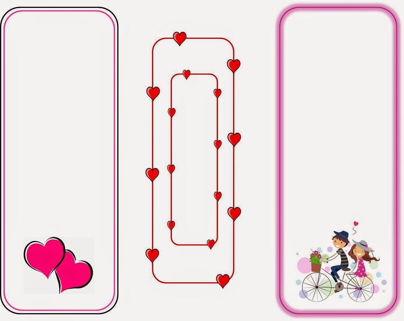 It is an image of Clever Printable Valentines Bookmarks