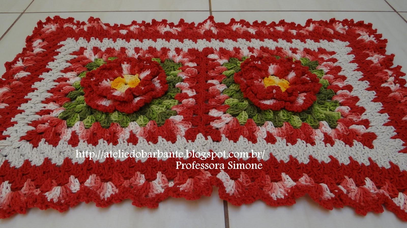 Tapetes feitos com Flor Rendada
