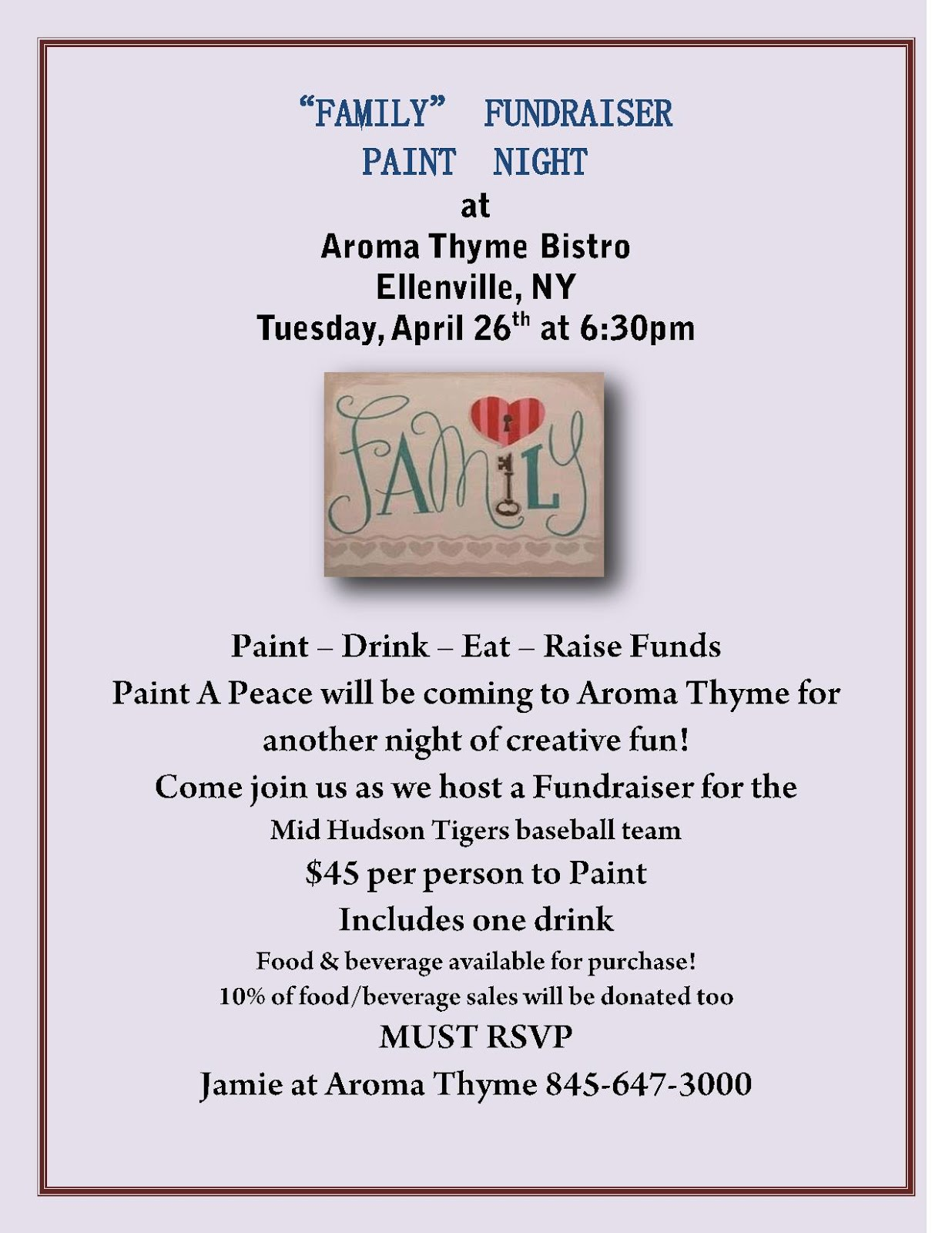 Family Fundraiser Paint Night