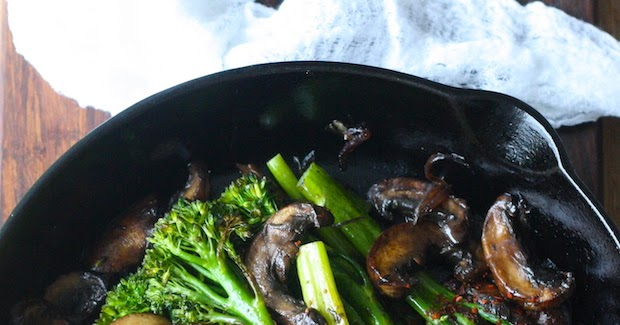 Roasted Broccolini with Mushrooms in Balsamic Sauce | Season with ...