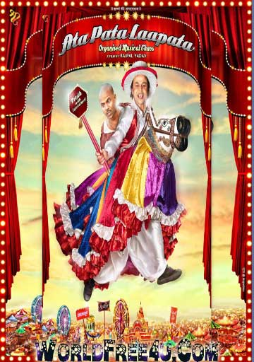 Poster Of Bollywood Movie Ata Pata lapata (2012) 300MB Compressed Small Size Pc Movie Free Download worldfree4u.com