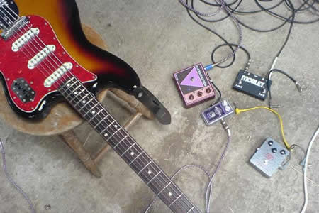 The Chasms: Fender Bass VI Baritone guitar and some pedals