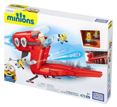JUGUETES - MEGA BLOKS : Minions Jet del súper villano | Supervillain Jet Producto Oficial Película 2015 | CNF60 | Piezas: 472 | Edad: +5 años Comprar en Amazon