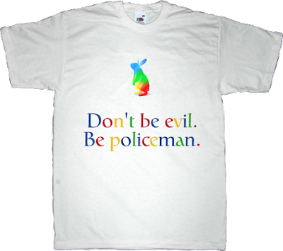 google evil big brother peer to peer p2p freedom useless patents useless copyright t-shirt ephemeral-t-shirts