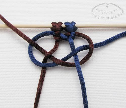 Makrama węzeł figowy 9