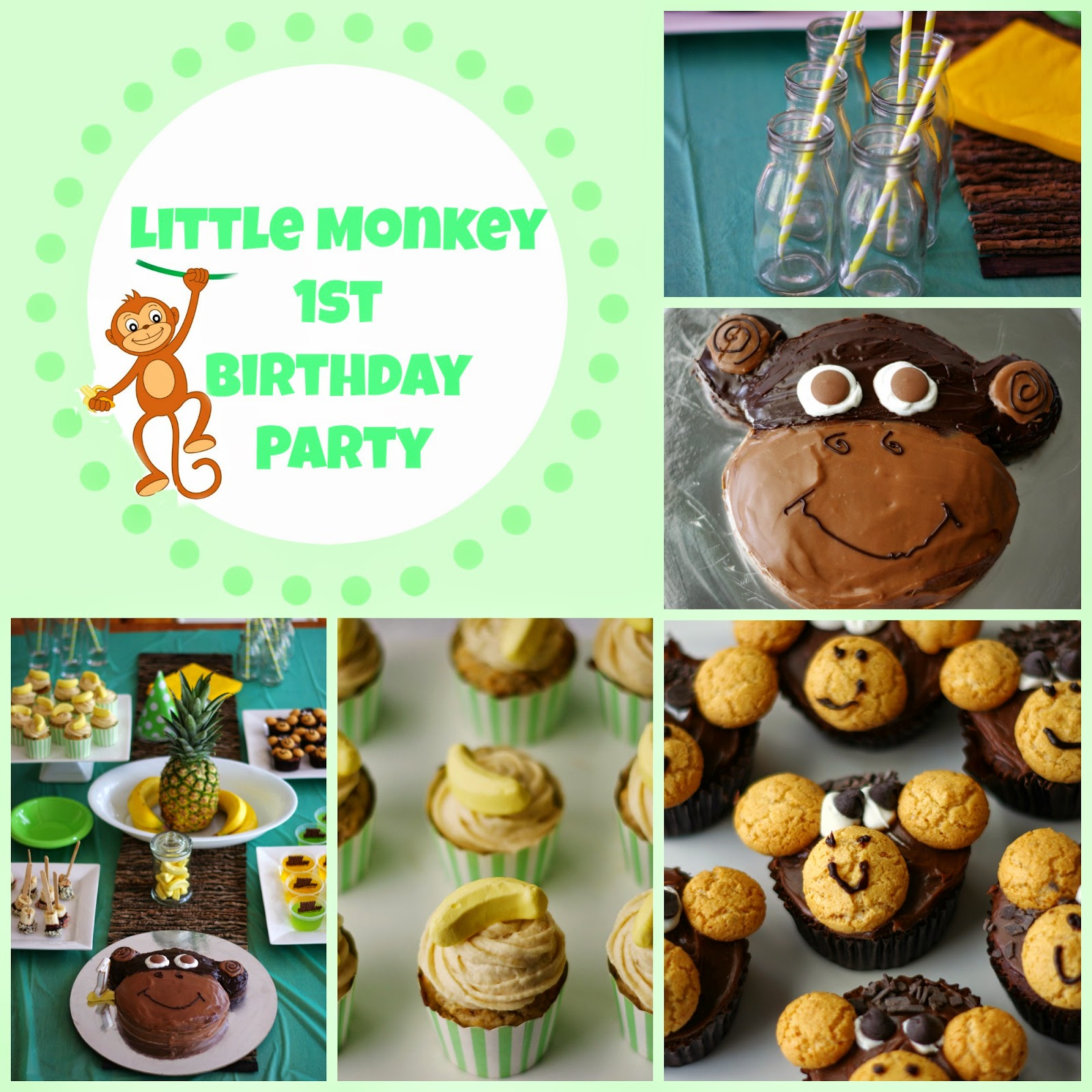 the nOATbook Little Monkey 1st Birthday Party