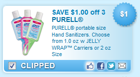 $1.00 off PURELL portable size Hand Sanitizers