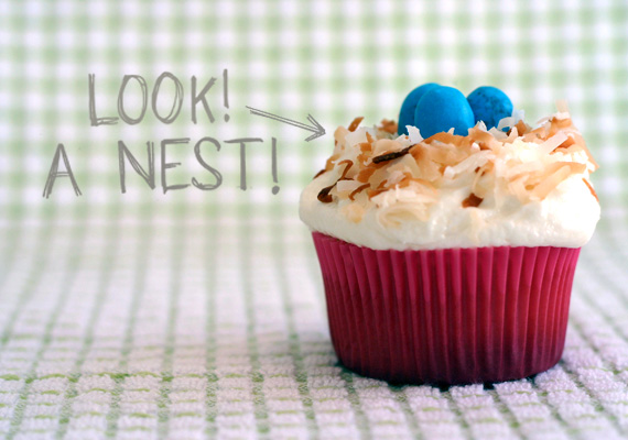 Urban Lace: EAT IT // Coconut Nest Cupcakes