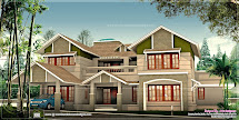 Exterior Design Of 4050 Sq-ft House - Kerala Home