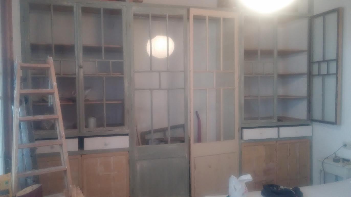 Amores bohemios dormitorio diy armario hecho con for Puertas recicladas