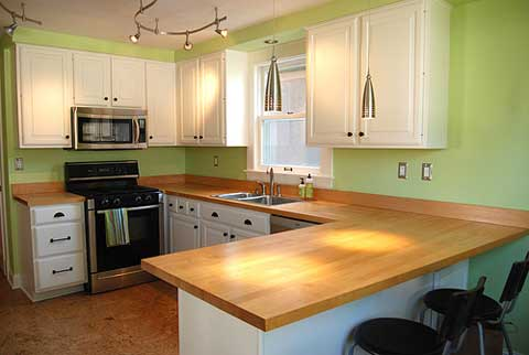 Wood kitchen countertops kitchen ideas Kitchen countertop ideas
