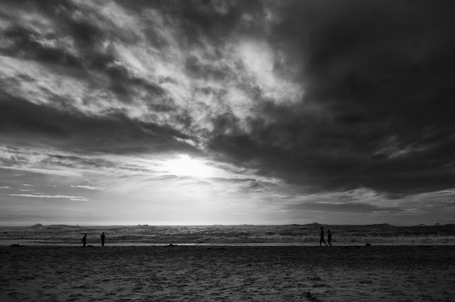 A stormy cloudscape over Camps Bay beach in CApe Town