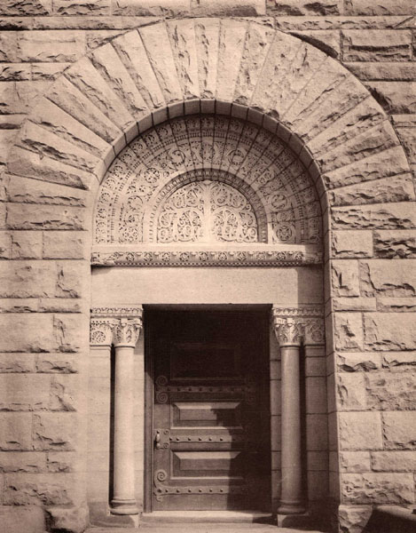 When the house was demolished in 1922 efforts were made to remove and preserve the elaborately carved entryway for installation at another site. & The Story of a House: Richardson\u0027s other Chicago house
