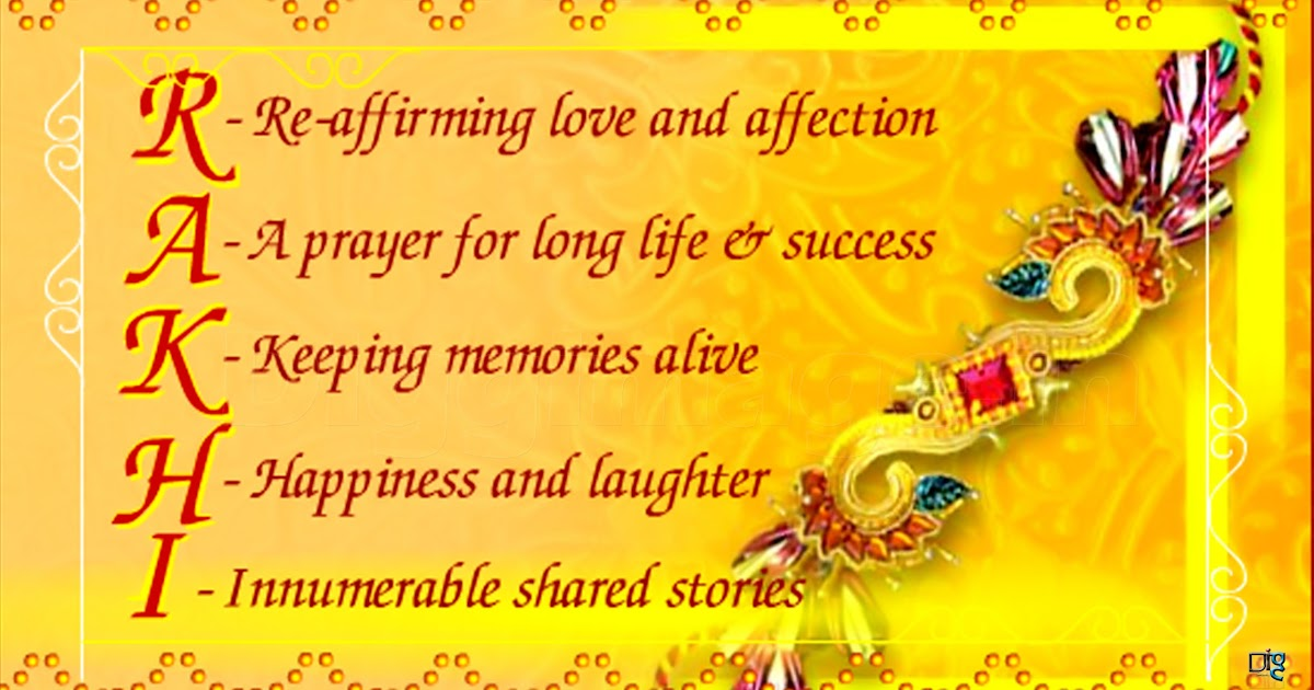 Real Meaning Of Raksha Bandhan Spell The Real Meaning Of