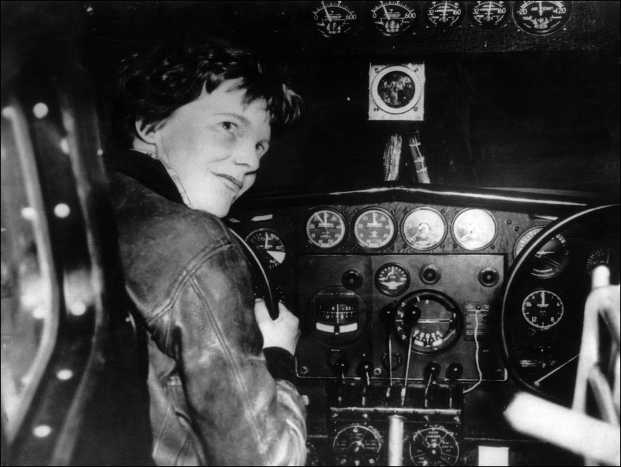 amelia earhart Amelia earhart wasn't afraid to break down barriers in 1928, she was the first woman to fly as a passenger across the atlantic ocean then, in 1932, she became the first woman to pilot a plane across that ocean there weren't many female pilots back then, and her actions inspired other women to follow their dreams.