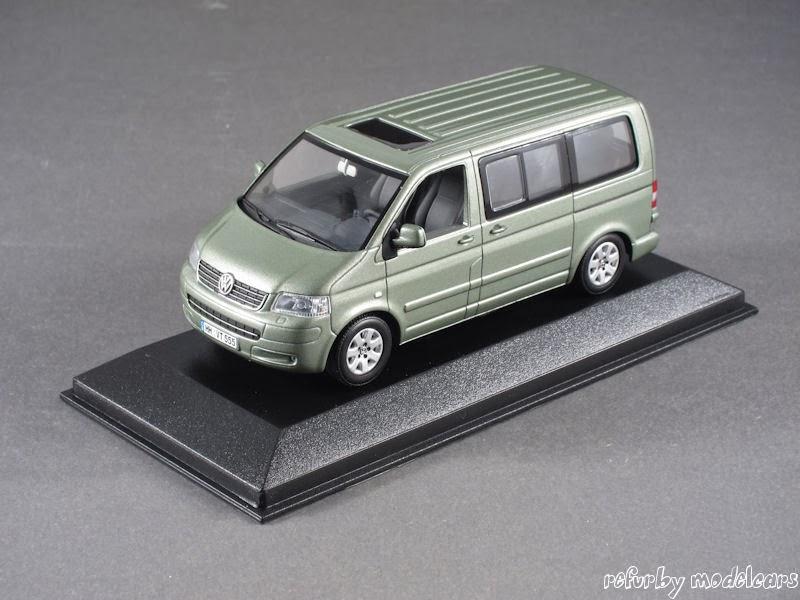 1:43 Minichamps Volkswagen Multivan 2003 T5 - grün metallic - NEU - VW-Modell