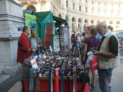 street vendor, venice italy, square