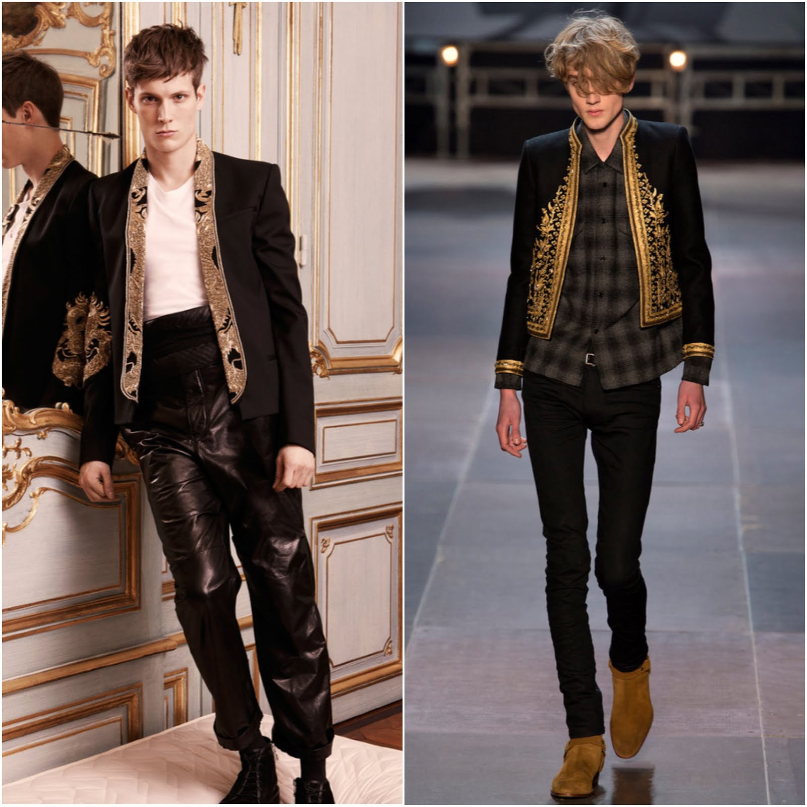 00O00 Menswear Blog: Peter Brant Jr. and Harry Brant in Balmain and Saint Laurent - 'PUNK: Chaos To Couture' Costume Gala May 2013