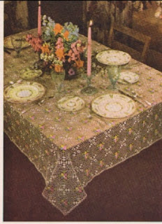 Crochet vintage tablecloth pattern