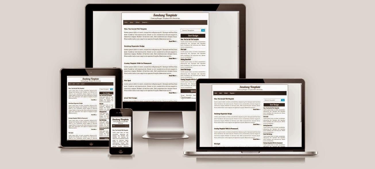 Download Sendang Template Blogger Simpel dan Responsive Dengan Bootstrap