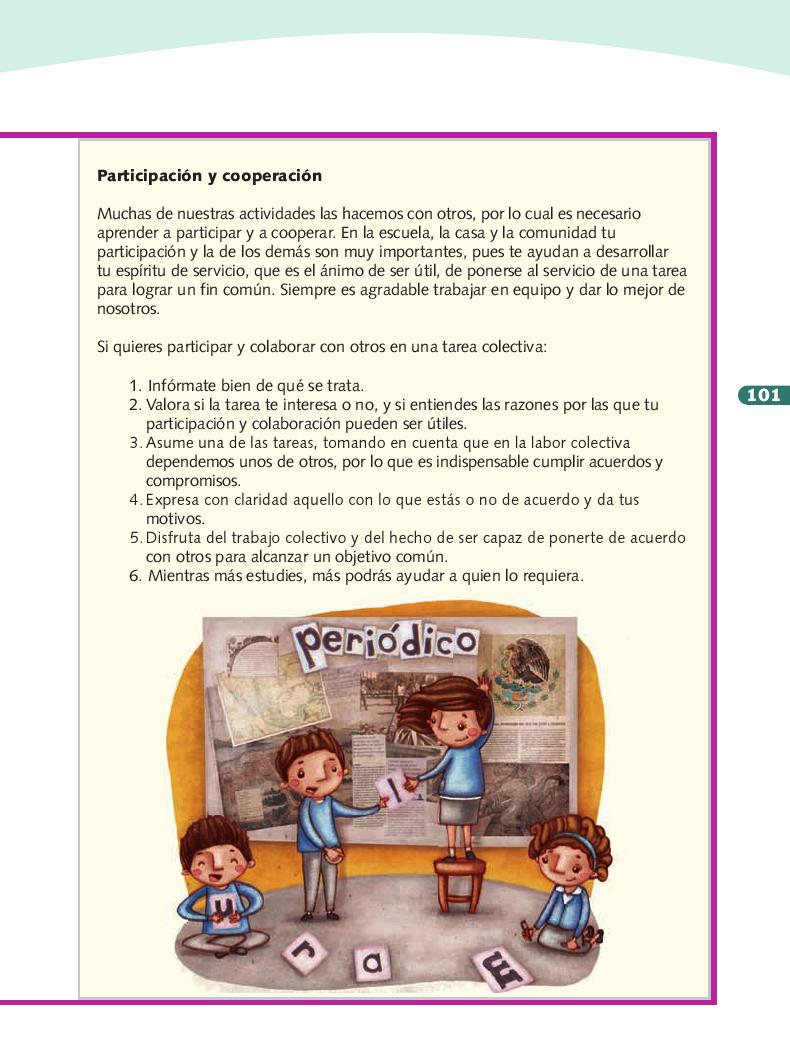 Para hacer - Formación Cívica y Ética 3ro Bloque 5 2014-2015
