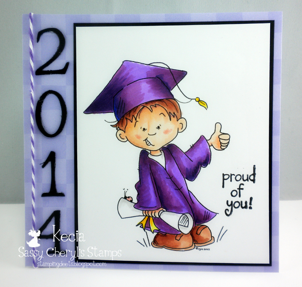 Kecia Waters, graduation, Copic markers, Sassy Cheryl's