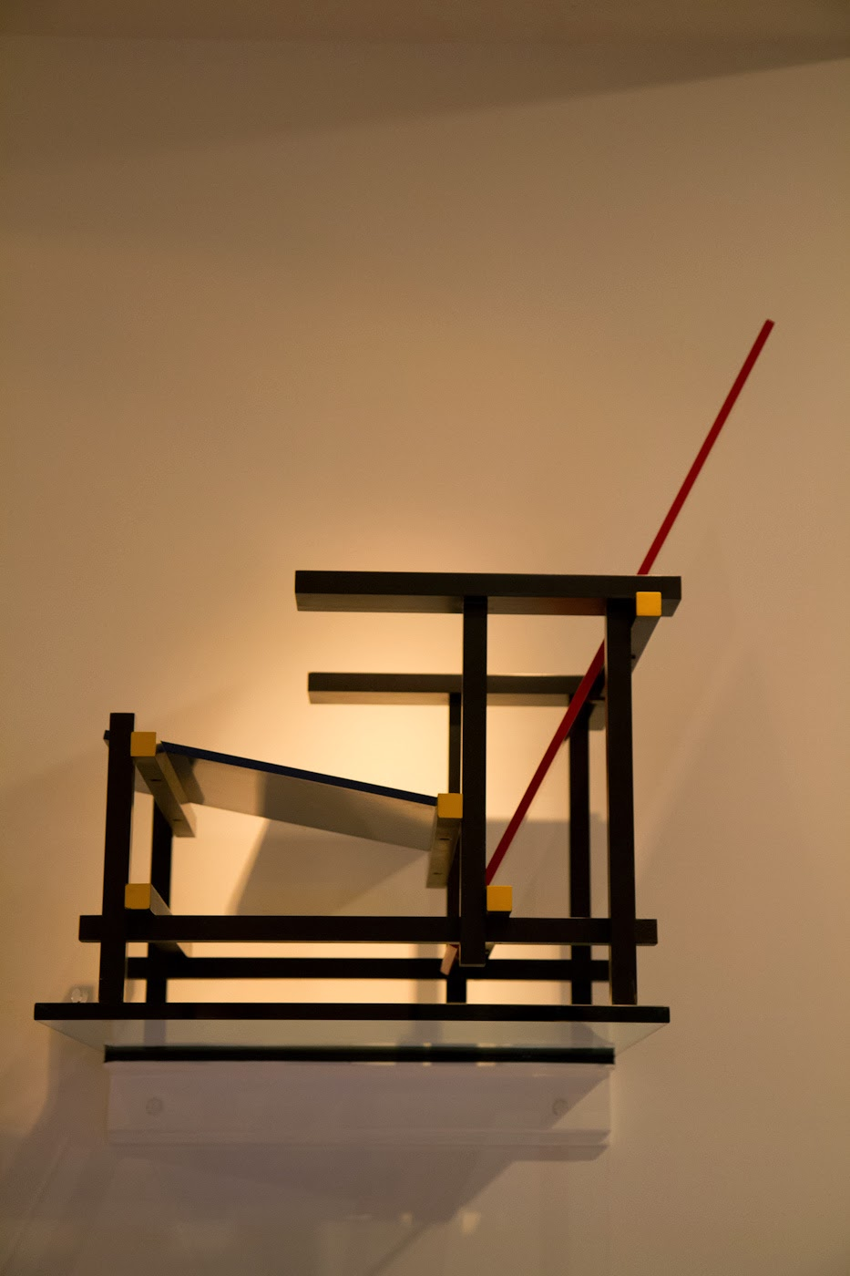 "My favorite chair by Gerrit Rietveld ""The red-blue chair"""